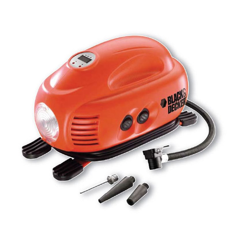 Inflador De Neumáticos Black & Decker Airstation As1200-LA-Rojo Con Negro