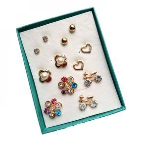 190d586d4766 Set Aretes Para Mujer Aretes Topos Caja X6 - Dorado