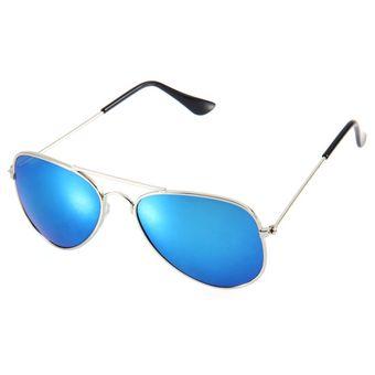 bc69e6c67f Moda Chicos Chicas Chicos Gafas De Sol Gafas De Sol Viajero Lente  Reflectante Del Espejo Azul