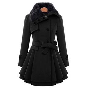 Abrigos de invierno de las mujeres Abrigo de lana caliente de las señoras 413b8fa95e42