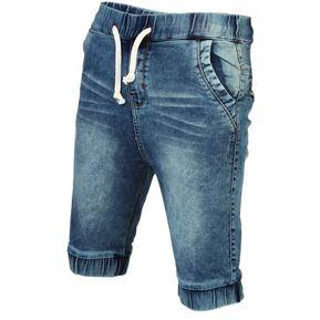 Conox - Jogger Bermuda Jean Premium Slim - Verde Espumado d59604aa9fdb