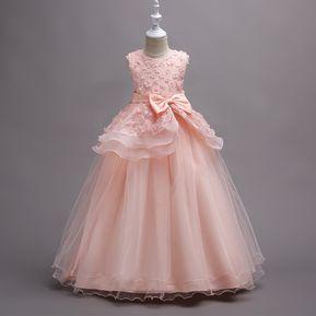 23fc78ae1 Vestido bordado tutu vestido de novia para niños - Rosa