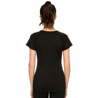 Compra Casual Para Cuello Con Mujer Camiseta Negro Redondo Deporte AgpzAqw4 cd1ce4cf14cf6