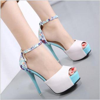 De Zapatos Moda Verano Impermeable Labios Sandalias Pescado Azul ZkOXPiu