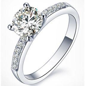 Anillo de compromiso oro con diamante precio