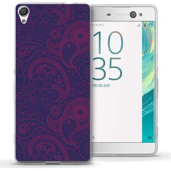 c8e2c8909db Compra Funda Para Celular Sony Xperia XA - Paisley Morado Con Rosa ...