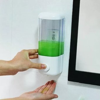 Compra Dispensador Jabon Liquido Shampoo Blanco Champu Pared online ... ee1597a7014e
