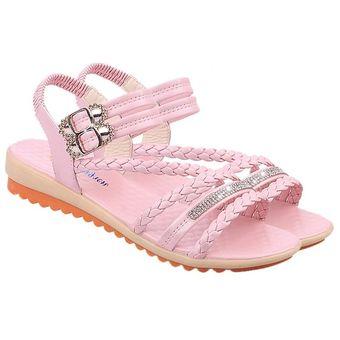 8c08153866e Moda Mujer Verano sandalias al tobillo elásticos suela suave zapatos ...