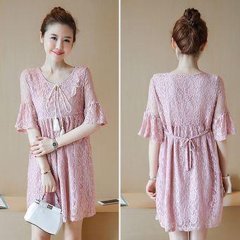 5f5932943 Compra Las mujeres embarazadas que amamantan el vestido de encaje ...
