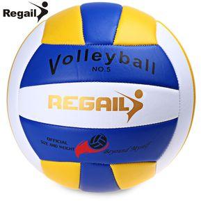 Regail Tamaño Oficial 5 Peso Voleibol Al Aire Libre Cubierta De Formación  Competición De Balonmano Azul 3667afe003e49