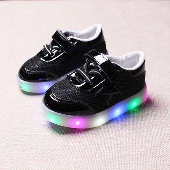 781129af Compra Zapatos Para Niños Con Luces LED Colorido Calzado Casual ...