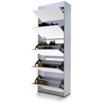 Compra mueble zapatero para 30 pares de zapatos espejo for Zapatero para 30 pares de zapatos