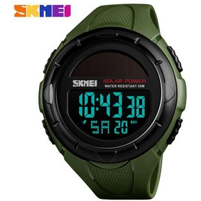 c10464d7fc05 Reloj Solar Power para hombre digital 52M prueba agua-Verde