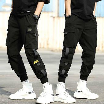 Pantalones Cargo Para Hombre Ropa De Calle Para Hombre Pantalones Joogers Pantalon De Chandal Negro Pantalones De Otono Hip Hop Para Hombre Pantalones Con Bolsillos Monos Color 17 Linio Peru Un055fa14xfudlpe