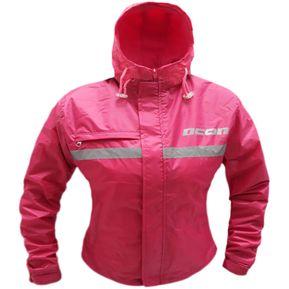 a862c15866b Chaqueta Mujer Moto Ciclismo Cortaviento Semi Impermeable Rosado