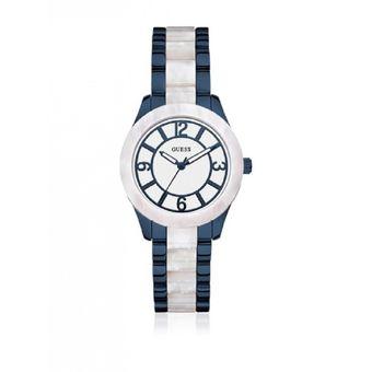 Compra Reloj Guess W0074L3 Análogo Azul Para Mujer online  99b822e1a554