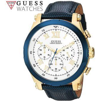 d0128a23b48a Compra Reloj Guess U1105G1 Acero Inoxidable Correa de Cuero - Azul ...