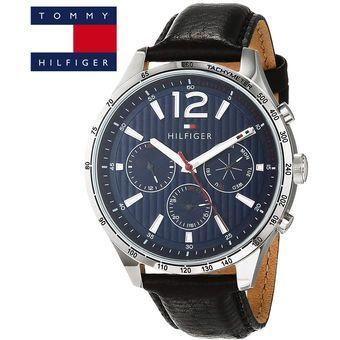 bf64af4d30bb Reloj Tommy Hilfiger Gavin 1791468 Acero Inoxidable Correa De Cuero - Negro