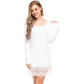 e60f14b41 Pijama De Dormir Algodón Elegante Para Mujer Blanco