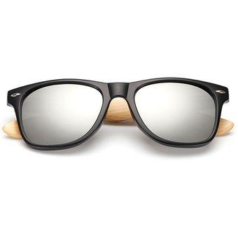 Agotado Encantador Bambú Gafas De Sol De Madera Gafas Sol Espejo Los  Anteojos HD Lentes -Negro 49acd850e34a