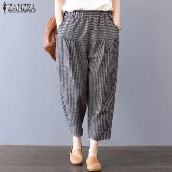 Zanzea Pantalones Holgados Holgados De Rayas Navidenas Para Mujer Pantalones Holgados Cargo Negro Linio Peru Za448fa1nhg6clpe