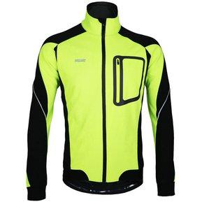 0075684fb6bfc Maillot de Ciclismo Hombre Invierno Ropa de Ciclista Mtb Chaqueta Arsuxeo  ARJ14-D Verde