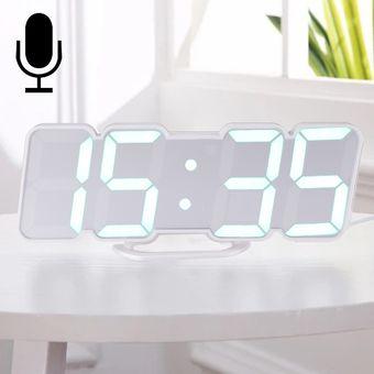 4776d2e0e360 Modern Led 3D Sound Control colorido reloj despertador digital reloj  electronico ajustar brillo brillante colgando de