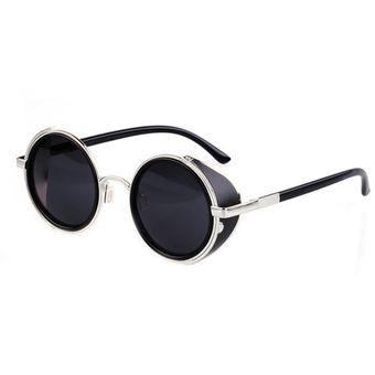 Compra Gafas De Sol Yucheer Con Cristales Redondos Unisex-Negro ... eb650ed67b24