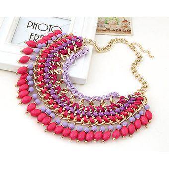 ec25dee7de3c Compra Collar Harmonie Accesorios Multicapas Mostacillas Rosado ...
