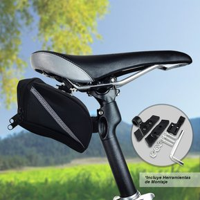 94c0bf6da05 Estuche Alforja Bicicleta Ciclismo Sillín Bolso Porta Celular RF 2502