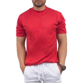 Camiseta Polo T-shirt Manga Corta Cuello Casual Para Hombre - RWK464 Rojo 1fd43219190c7