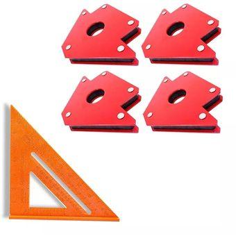 Pack 4 Escuadras Magneticas Para Soldar 50 Lbs + Esc. Rápid