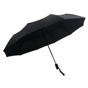 bf9ee5abff0 Totalmente automática Sol y Lluvia Paraguas Tres Pliegues - Negro