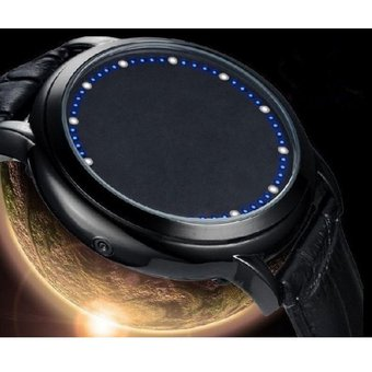 2de94c1cb2c0 Relojes Caballero Led Modelo Tron Lujo Digital Binario Moderno Luz-Negro