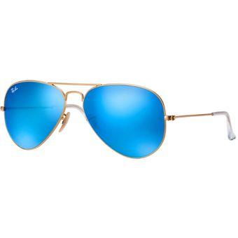 4823e126dd05b Gafas De Sol Ray Ban Aviator Flash Lenses RB 3025 112 17 Dorado   Azul