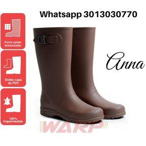 817515db55d Botas de Lluvia Mujer Anna Impermeables Cafe