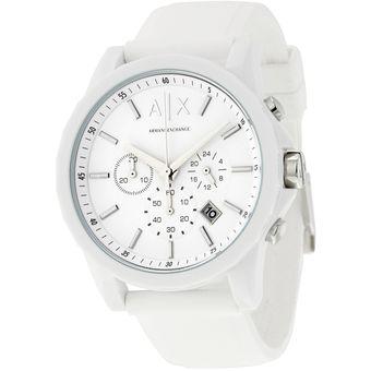 8fcecae7a4b2 Compra Reloj Armani Exchange AX1325 Cronógrafo Unisex Blanco online ...