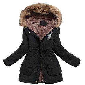 b533a93112ea7 Abrigo De Invierno Caliente Chaqueta Ropa Top Con Capucha Largo Outwear  Yucheer Para Mujer Negro