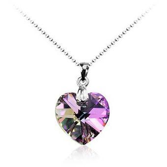 ea6f22d437ce Compra Collar Corazon Lila Tornasol Cristal Swarovski online