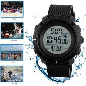 22b103ccf0fb Er Masculino Reloj Impermeable Skmei Digital Relojes Hombre Deportivo (Negro )