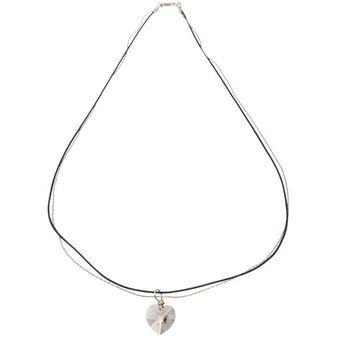 2d274ebdcc75 Compra Collar Con Crystals Swarovski En Plata 925 Y Piel Negra Jands ...