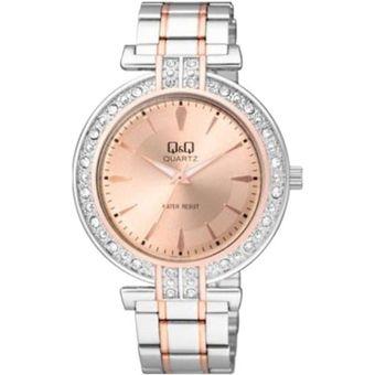 e57ce23951c8 Compra Reloj Q q Para Dama Q885J402Y Pulso En Acero Bicolor Original ...