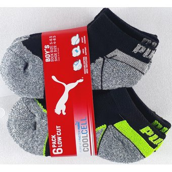 Compra Calcetines Puma Athletic 6 Pack Para Niños Gris Negro online ... fa99c19753f71