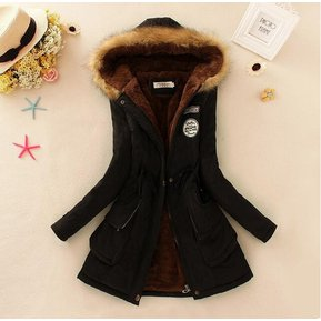 Mujer Chaqueta Abrigo Con Capucha Fashion-Cool-negro 587419cf230b