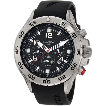 Compra Reloj Nautica N14536g Para Hombre Ultima Colección - Negro ... 2d4b30d97c9a