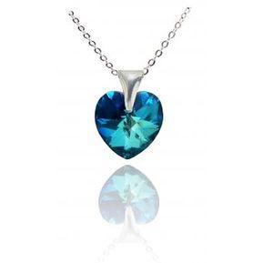 b5f7e60b4e65 Collar Mujer Corazón - Azul Titanic Swarovski Elements