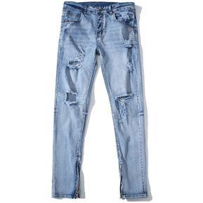 166fb224da Pantalones Vaqueros Rotos De Hombre Slim Denim Pant