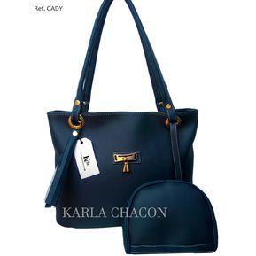 80b9ff922bd Bolso Cartera Mujer Dama Karla Chacon Ref Gady Azul