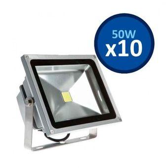 Compra pack de 10 focos led 50 watts para jard n terraza o exterior online linio chile - Focos led jardin ...