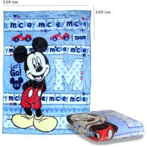 faf416182 Cobertor Cuna Mickey Celest 4355MKC